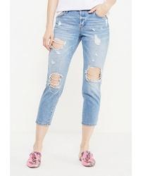 Голубые рваные джинсы скинни от River Island