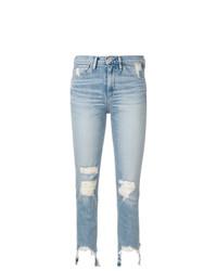 Женские голубые рваные джинсы от 3x1