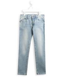 Детские голубые рваные джинсы для мальчику от Armani Junior