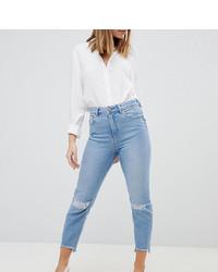 Женские голубые рваные джинсы от Asos Petite