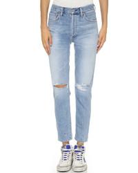 Женские голубые рваные джинсы от Citizens of Humanity