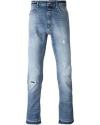 Мужские голубые рваные джинсы от Closed