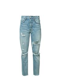 Женские голубые рваные джинсы от Grlfrnd