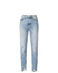 Женские голубые рваные джинсы от Hudson