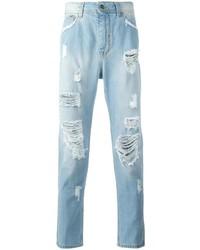 Мужские голубые рваные джинсы от Iceberg