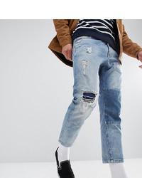 Мужские голубые рваные джинсы от Just Junkies