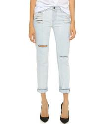 Женские голубые рваные джинсы от Paige