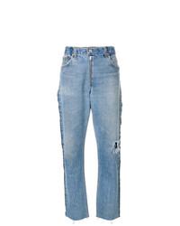 Женские голубые рваные джинсы от RE/DONE