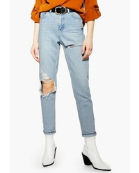Женские голубые рваные джинсы от Topshop