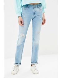 Женские голубые рваные джинсы от Whitney