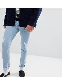 Мужские голубые рваные зауженные джинсы от Just Junkies