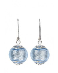 Женские голубые серьги от Bottega Murano