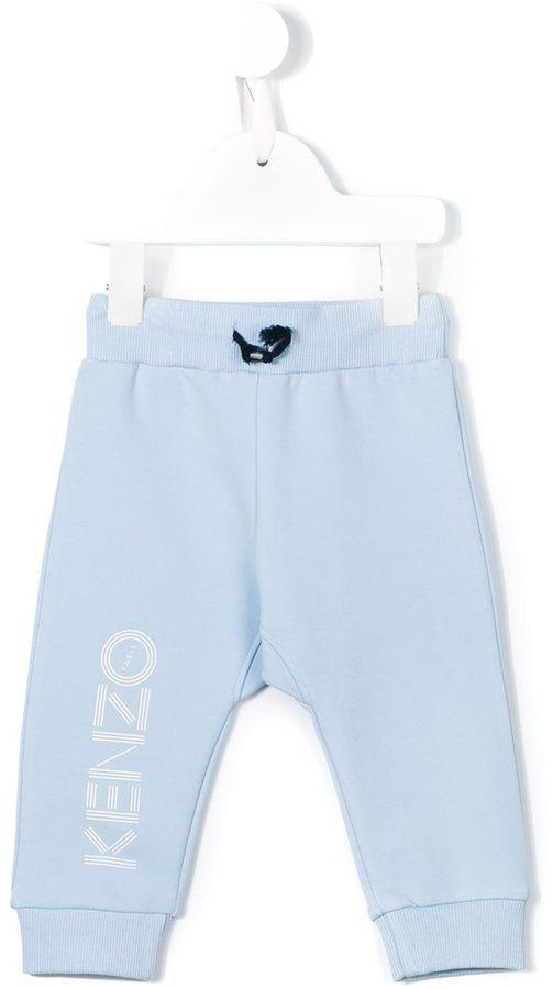 Детские голубые спортивные штаны с принтом для мальчику от Kenzo