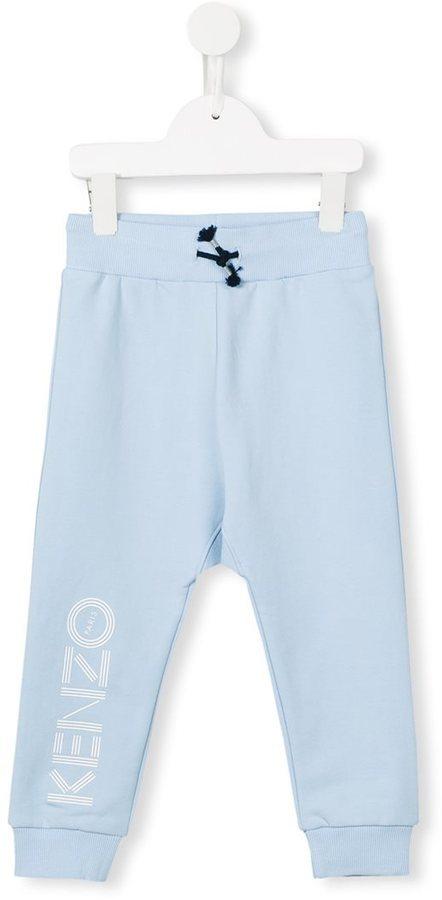 Детские голубые спортивные штаны с принтом для мальчиков от Kenzo