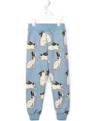 Детские голубые спортивные штаны для мальчику от Mini Rodini