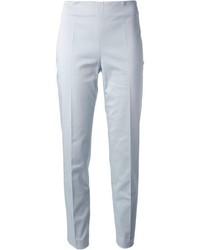 Голубые узкие брюки