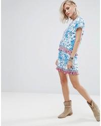 Женские голубые шорты с принтом от Glamorous