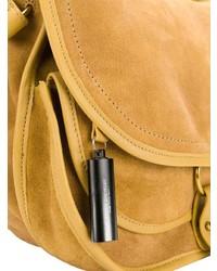 Горчичная замшевая сумка через плечо от Jerome Dreyfuss