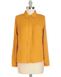 горчичная классическая рубашка original 4286915