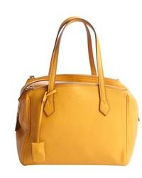 Горчичная кожаная сумочка