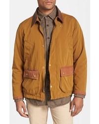 Горчичная куртка с воротником и на пуговицах