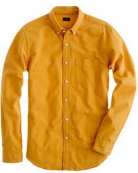 Горчичная рубашка с длинным рукавом