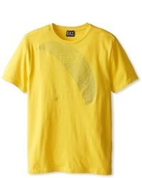 Горчичная футболка с круглым вырезом