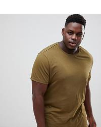 Мужская горчичная футболка с круглым вырезом от ASOS DESIGN