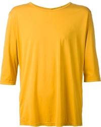 Мужская горчичная футболка с круглым вырезом от Attachment