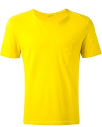 Мужская горчичная футболка с круглым вырезом от Massimo Alba