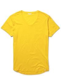 Мужская горчичная футболка с круглым вырезом от Orlebar Brown