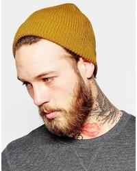 Мужская горчичная шапка от Asos