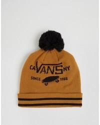 Мужская горчичная шапка от Vans