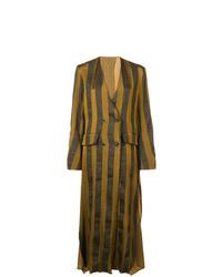 Женское горчичное пальто с принтом от Uma Wang