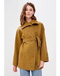 Женское горчичное пальто от Ovelli