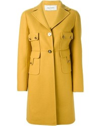 Женское горчичное пальто от Valentino