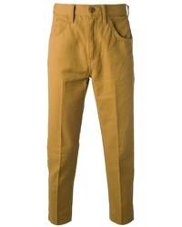 Горчичные брюки чинос