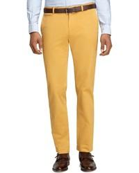 Горчичные классические брюки
