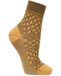 Женские горчичные носки от Missoni