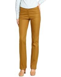 Горчичные узкие брюки