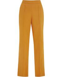 Женские горчичные узкие брюки от Rosie Assoulin
