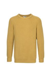 Мужской горчичный вязаный свитер от H Beauty&Youth