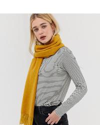 Женский горчичный вязаный шарф от Accessorize
