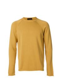 Мужской горчичный свитер с круглым вырезом от Altea