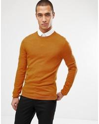 Мужской горчичный свитер с круглым вырезом от ASOS DESIGN