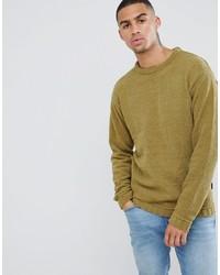 Мужской горчичный свитер с круглым вырезом от D-struct