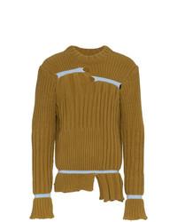 Мужской горчичный свитер с круглым вырезом от Helen Lawrence