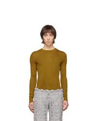 Мужской горчичный свитер с круглым вырезом от Judy Turner