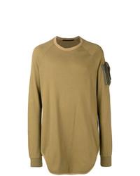 Мужской горчичный свитер с круглым вырезом от Julius
