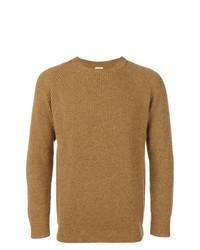Мужской горчичный свитер с круглым вырезом от Kent & Curwen